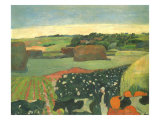 Haystacks in Brittany, 1890 Giclee Print by Paul Gauguin