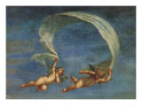 Cupids Leading Adonis to Venus, 1625 Giclée-tryk af Francesco Albani