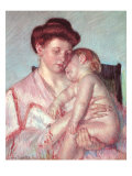 Sleepy Baby, 1910 Giclee Print by Mary Cassatt