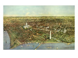 Map of Washington D.C., 1892 Giclee Print