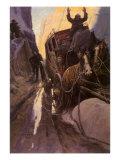 Hands Up, 1906 Giclée-tryk af Newell Convers Wyeth