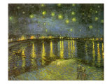 Starry Night on Rhône, 1888 Giclée-Druck von Vincent van Gogh