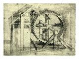 Enormous Wheel Weapon Giclée-Druck von  Leonardo da Vinci