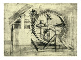 Enormous Wheel Weapon Giclee Print by  Leonardo da Vinci