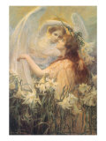 The AngelS Message, 1905 Giclee Print by George Hillyard Swinstead