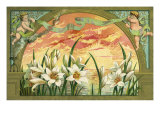 Easter Lilies at Sunrise Giclee Print