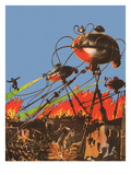 Sci Fi - War of the Worlds, 1927 Giclee Print by Frank R. Paul