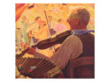 Fiddle Player, 1937 Giclee Print
