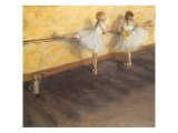 Dancers Practicing at the Bar, 1876 Giclee Print by Edgar Degas