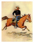 A Cavalry Officer, 1901 Giclee Print by Frederic Sackrider Remington