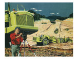 Construction Site, 1956 Giclee Print