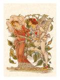 Elf and Queen of Garden, 1889 Giclee Print by Walter Crane