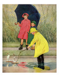 A Rainy Day, 1932 Giclee Print by Miriam Story Hurford