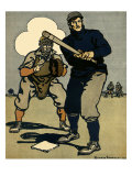 Batter and Catcher, 1902 Giclee Print by Edward Penfield