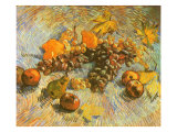 Grapes, Lemons, Pears, and Apples, 1887 Giclee Print by Vincent van Gogh