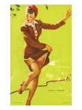 Pin-Up Caught in Sprinklers, 1940 Giclee Print
