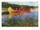 Explorers and Indians, 1905 Giclee-trykk av Frederic Sackrider Remington