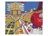 Sci Fi - Futuristic City, 1934 Giclee Print by Frank R. Paul