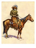 An Arizona Cowboy Giclee Print by Frederic Sackrider Remington