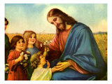 Jesus and Children Giclee Print