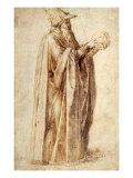 Philosopher Holds Skull, 1502 Giclee Print by  Michelangelo Buonarroti