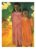 Piti Teina (Two Sisters), 1892 Giclee Print by Paul Gauguin