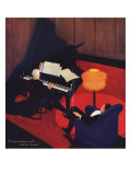 Man Listening to Piano, 1927 Giclee Print