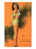 Pin-Up Girl Tied Up in Bathing Suit, 1940 Giclee Print