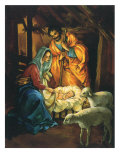 Nativity Scene, 1950 Giclee Print