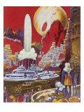 Futuristic City, 1941 Giclee Print by Frank R. Paul