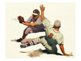 Baseball Players Giclee Print