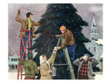 Trimming Christmas Tree, 1948 Giclee Print