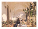 Breakfast in the Loggia, 1910 Giclee Print by John Singer Sargent