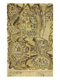 Map of Tetela, 1577 Giclee Print