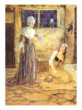 Godmother and Cinderella, 1915 Giclee Print by Millicent Sowerby