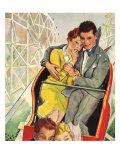 Roller Coaster Couple, 1930 Giclee Print