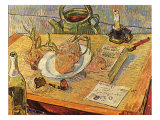 Still Life with Onions and Drawing Table, 1889 Giclee Print by Vincent van Gogh