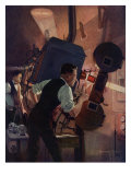 Projectionist at Work, 1921 Giclee Print