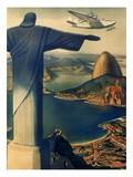 Christ Overlooking Rio, 1938 Giclee Print