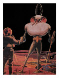 Sci Fi - Alien and Astronaut, 1939 Giclee Print by Frank R. Paul