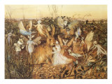 Rabbit and Fairies, 1880 Giclee Print by John Anster Fitzgerald