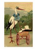 Stork Baby in Stroller, 1910 Giclee Print