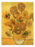 Vase with Sunflowers, 1889 Giclee Print by Vincent van Gogh