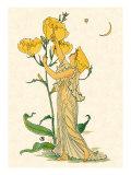 Evening Primrose Nymph, 1889 Giclee Print by Walter Crane