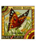 Butterfly Bean Label Giclee Print