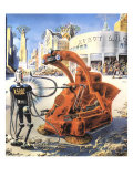 Sci Fi - Futuristic Robots, 1953 Giclee Print by Frank R. Paul