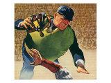 Umpire Holding Mask, 1944 Giclee Print