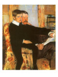 Portrait of Mr. Alexander J. Cassatt and His Son, Robert Kel, 1884 Giclee Print by Mary Cassatt