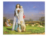 Pretty Baa-Lambs, 1851 Giclee Print by Ford Madox Brown