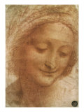 Sketch of Saint Anne, 1500 Reproduction procédé giclée par  Leonardo da Vinci